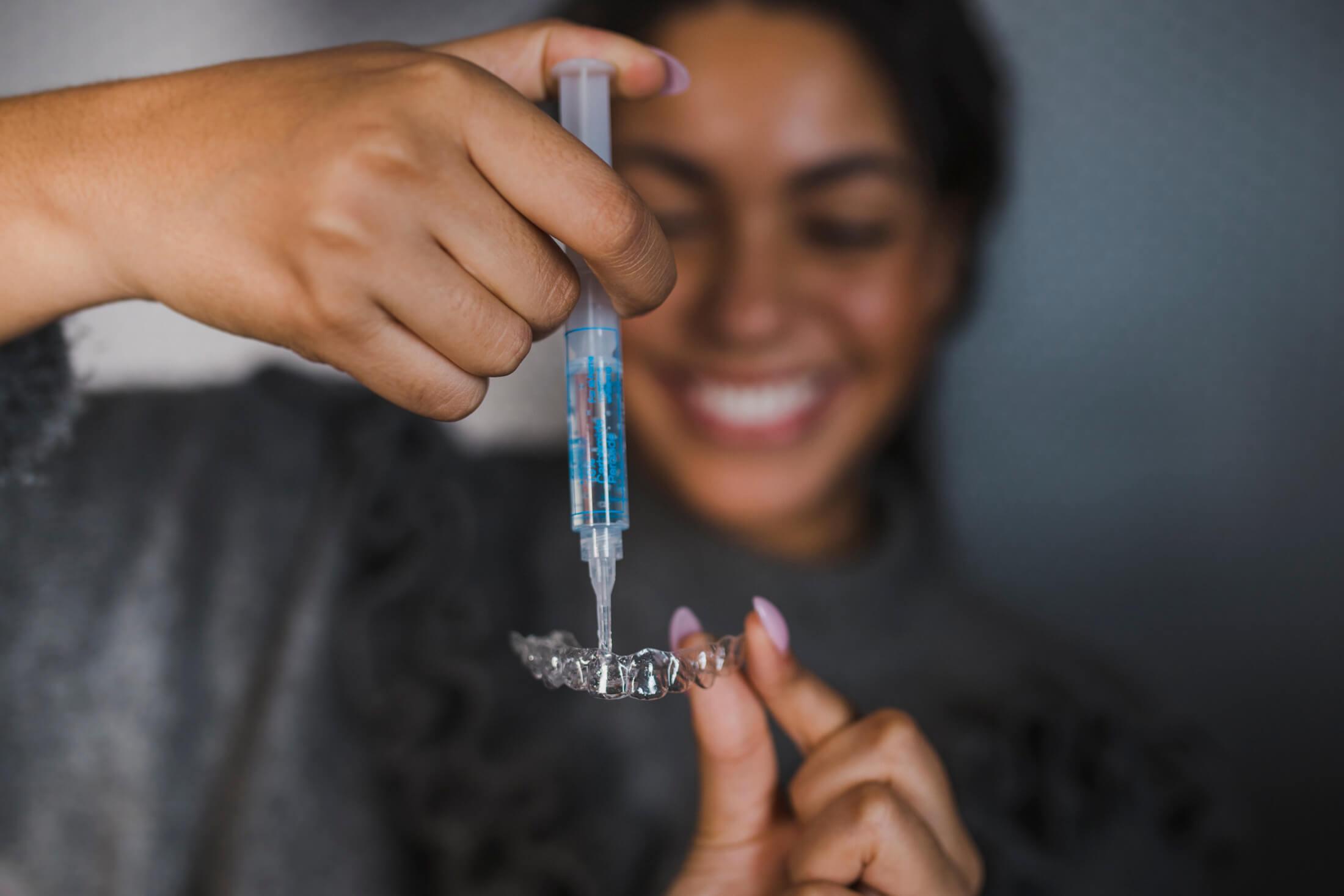 Whiter teeth using safe, dentist prescribed whitening gel