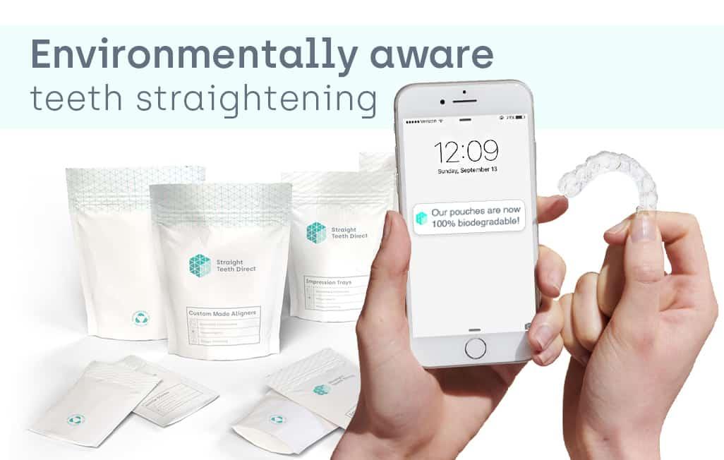 Environmentally aware teeth straightening